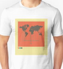 Sense8 vintage map design Unisex T-Shirt