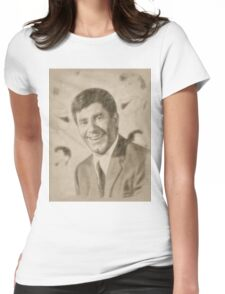 Jerry Lewis, Actor and Comedian Womens Fitted T-Shirt