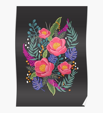 Night Blossom art print Poster