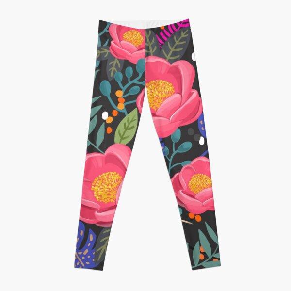 Night Blossom art print Leggings