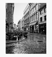 Rain in Old Montreal  Photographic Print