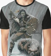 Orc Huntress & Wolverine Graphic T-Shirt
