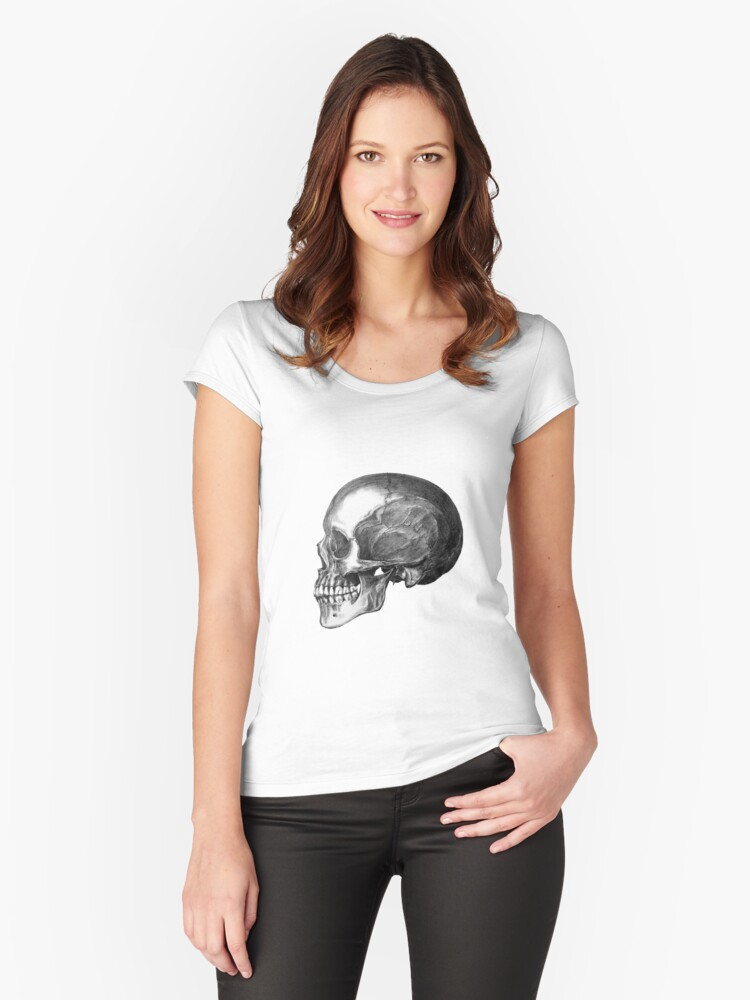 Skull Women's Fitted Scoop T-Shirt Front