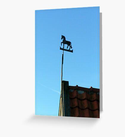 Sky horse weathervane Greeting Card