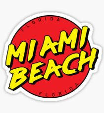 Miami Beach Florida Retro Sticker