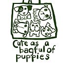 Cute as a bagful of puppies by nanopeople
