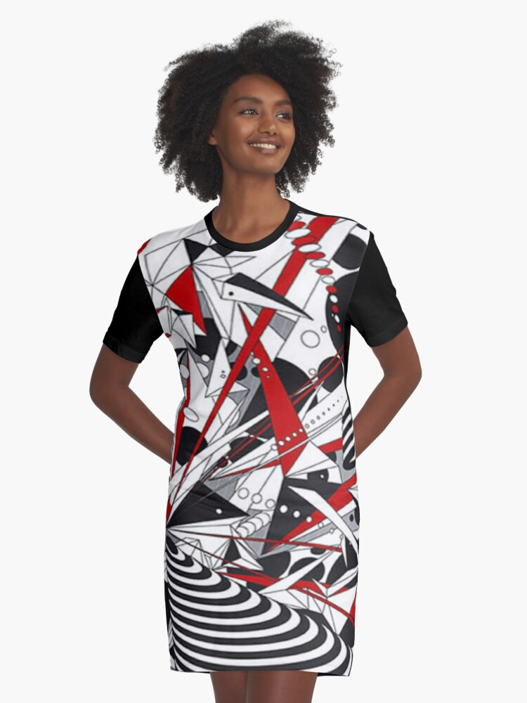 One Point Graphic T-Shirt Dress Front
