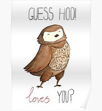 Guess Hoo Loves You Poster