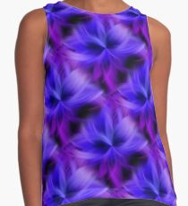 Purple and Blue Petals Abstract Contrast Tank