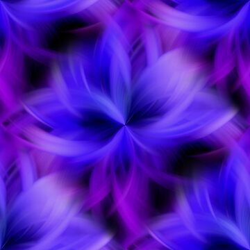 Purple and Blue Petals Abstract by SmilinEyes