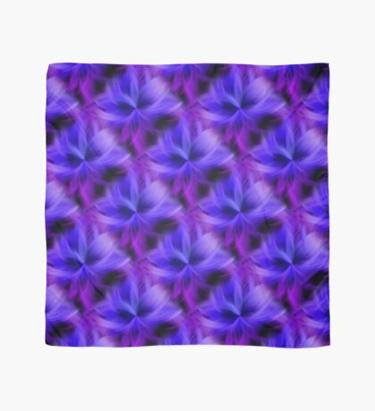 Purple and Blue Petals Abstract Scarf