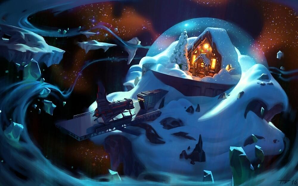 Comfy Winter Cabin by Thorsten Denk
