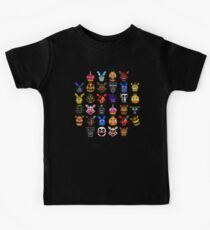 NEW - FNAF Multiple Animatronics - (Dec 2016) - Pixel art Kids T-Shirt