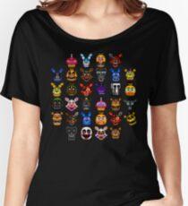 NEW - FNAF Multiple Animatronics - (Dec 2016) - Pixel art Women's Relaxed Fit T-Shirt