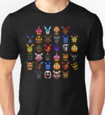 NEW - FNAF Multiple Animatronics - (Dec 2016) - Pixel art Slim Fit T-Shirt