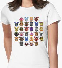 NEW - FNAF Multiple Animatronics - (Dec 2016) - Pixel art Womens Fitted T-Shirt