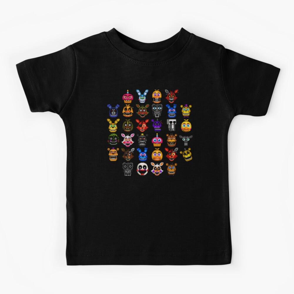NEW - FNAF Multiple Animatronics - (Dec 2016) - Pixel art Kids T-Shirt