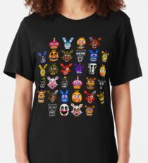 NEW - FNAF Multiple Animatronics - (Dec 2016) - Pixel art Slim Fit T-Shirt