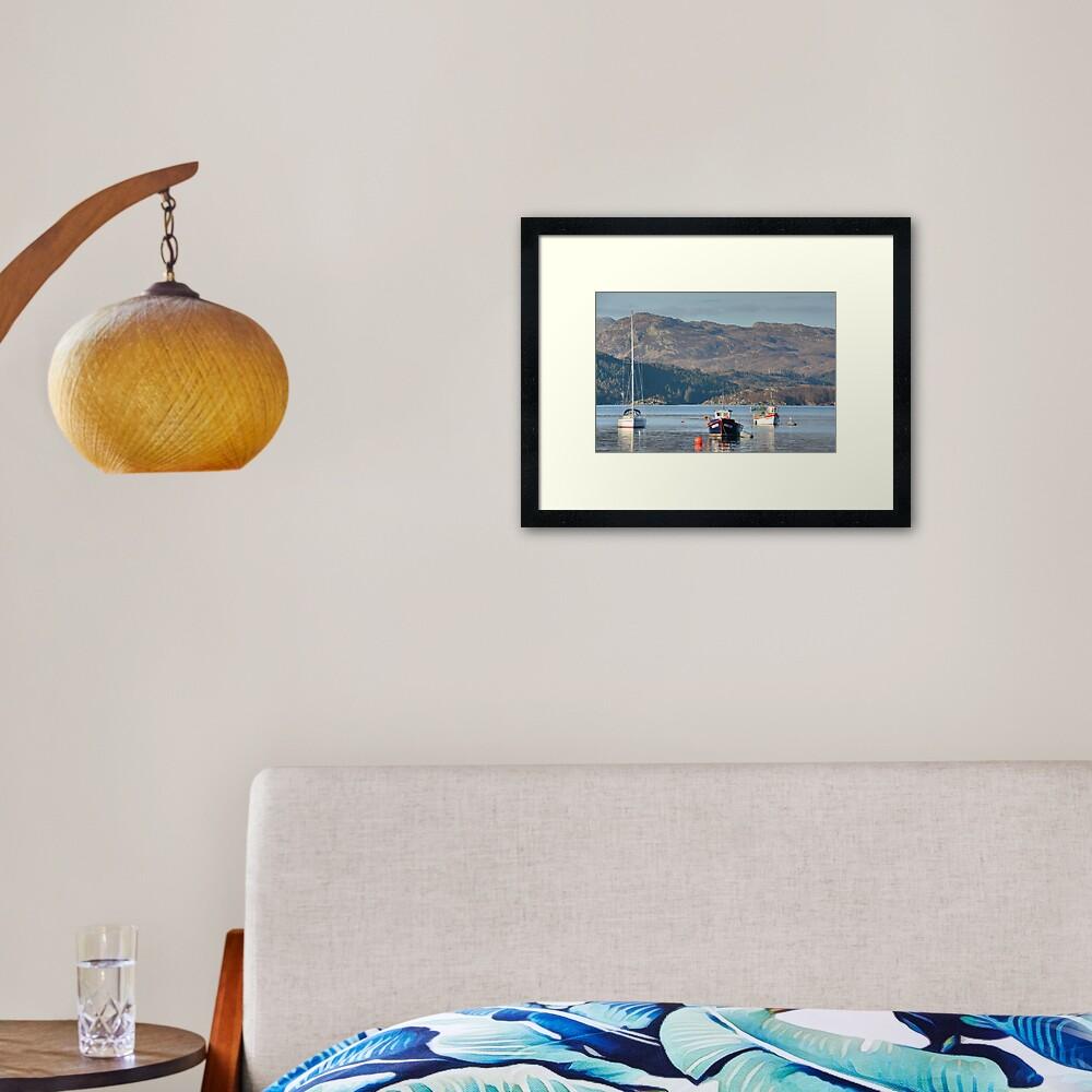Plockton Bay, Highlands, Scotland Framed Art Print