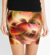 Swirling Red Pink Green And Yellow Colors Mini Skirt