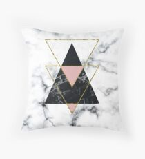 Geo glam marble Throw Pillow