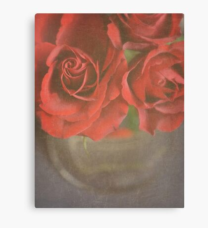 Scarlet Roses. Canvas Print