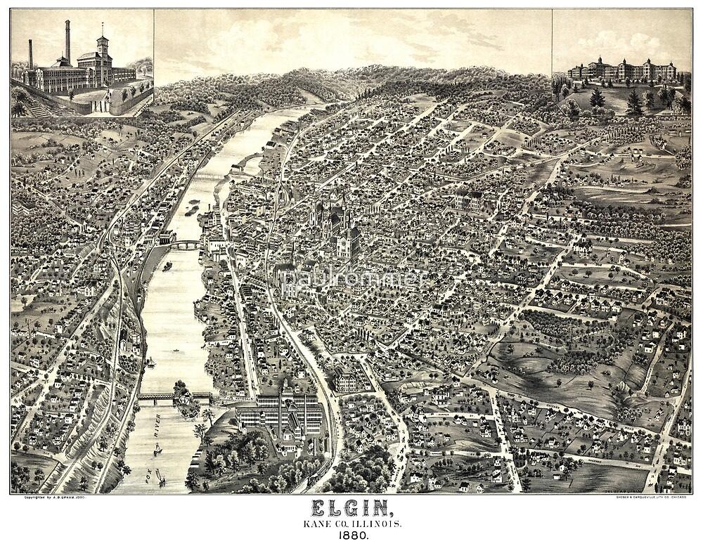 Elgin - Illinois - 1880 by paulrommer