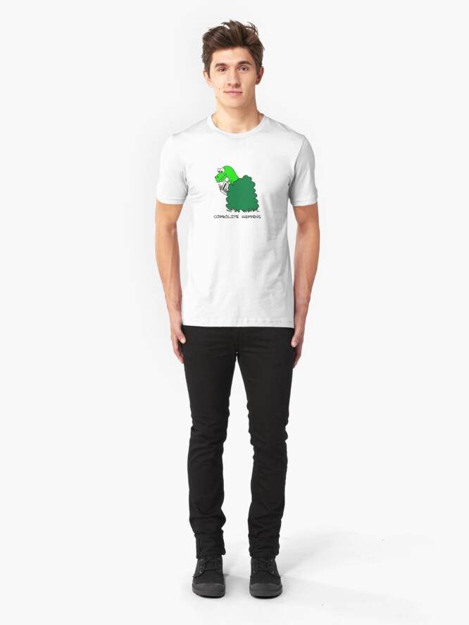 Alternate view of Coprolite Happens Slim Fit T-Shirt