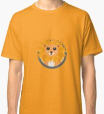 Kawaii lion with circle Classic T-Shirt