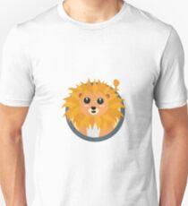 Kawaii lion with circle Unisex T-Shirt