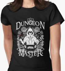Dungeon Master - White Womens Fitted T-Shirt
