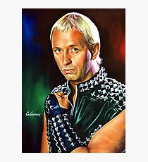 Rob Halford Priest, painting portrait Photographic Print