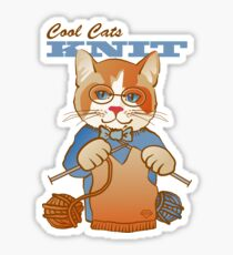 Cool Cats Knit, Calico Sticker