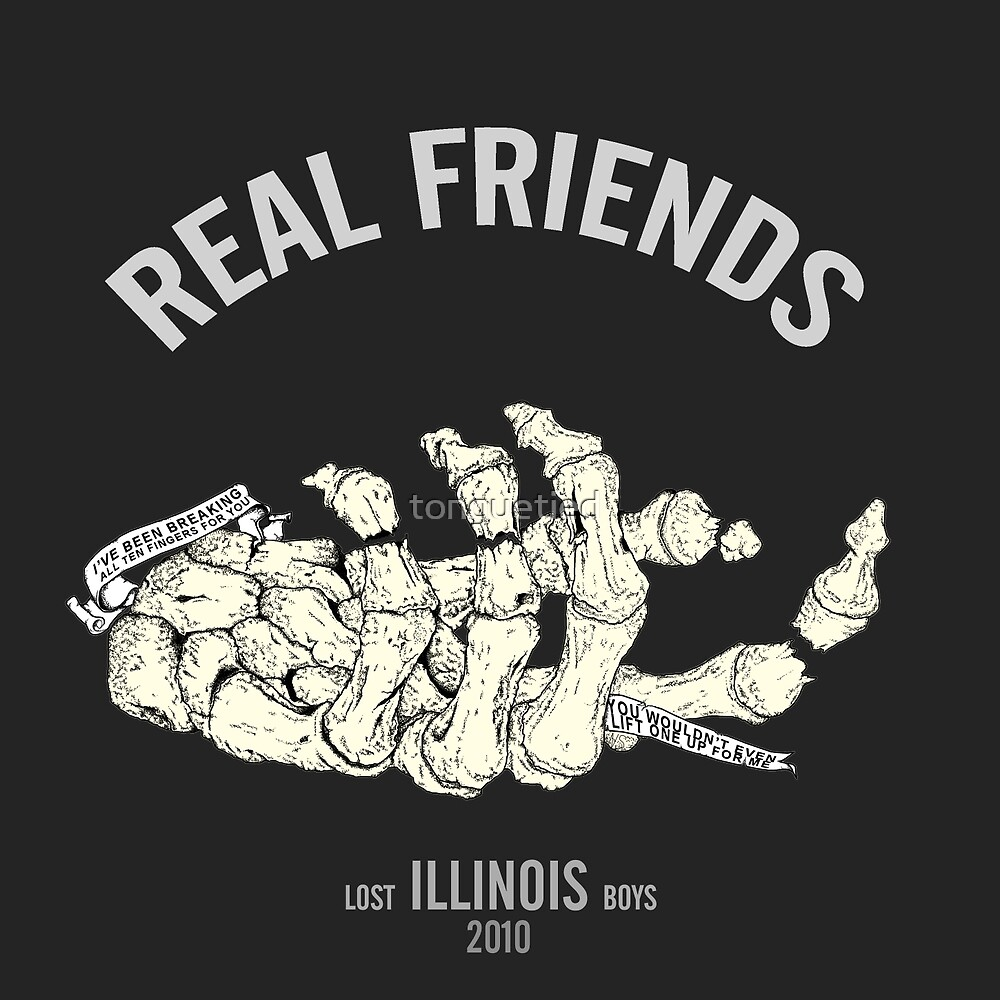 real friends illustration by tonguetied