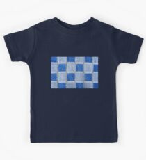 Blue terrycloth texture abstract Kids Clothes