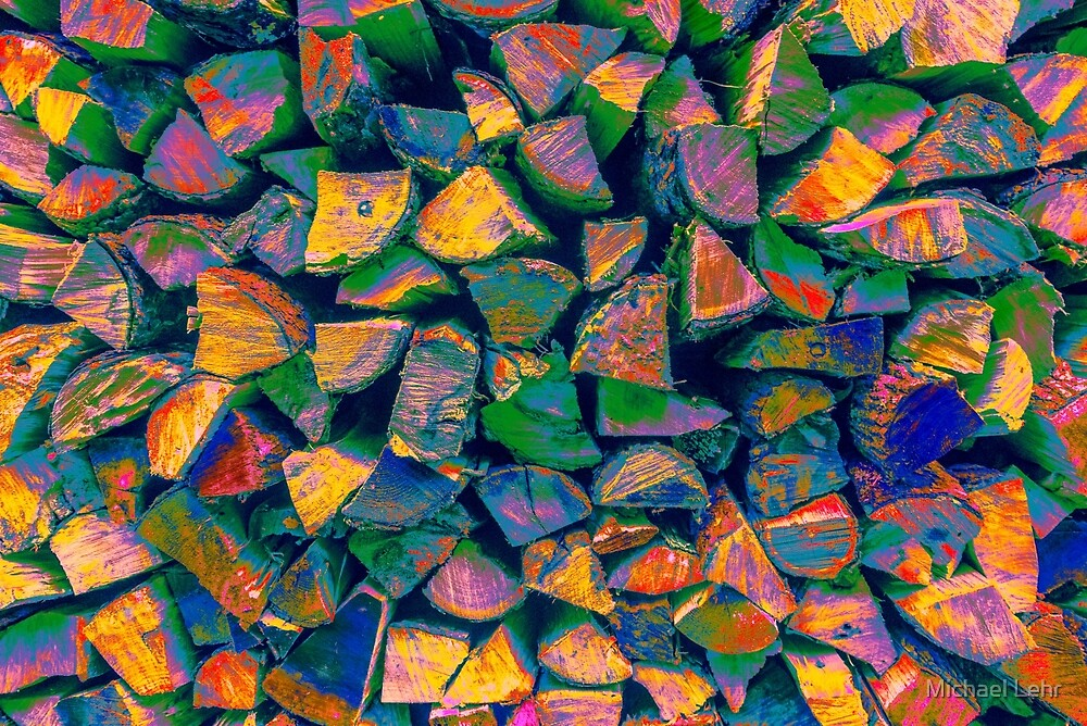 Colorful Woodpile in Little Italy by Michael Lehr