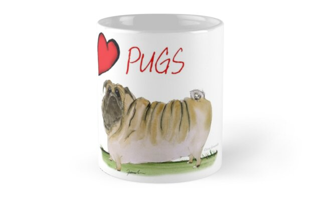 i love pugs by tony fernandes by Tony Fernandes