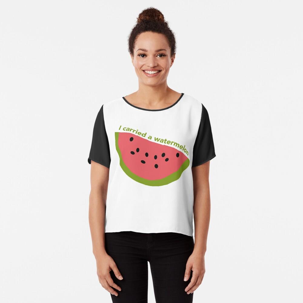 I carried a watermelon - dirty dancing Chiffon Top