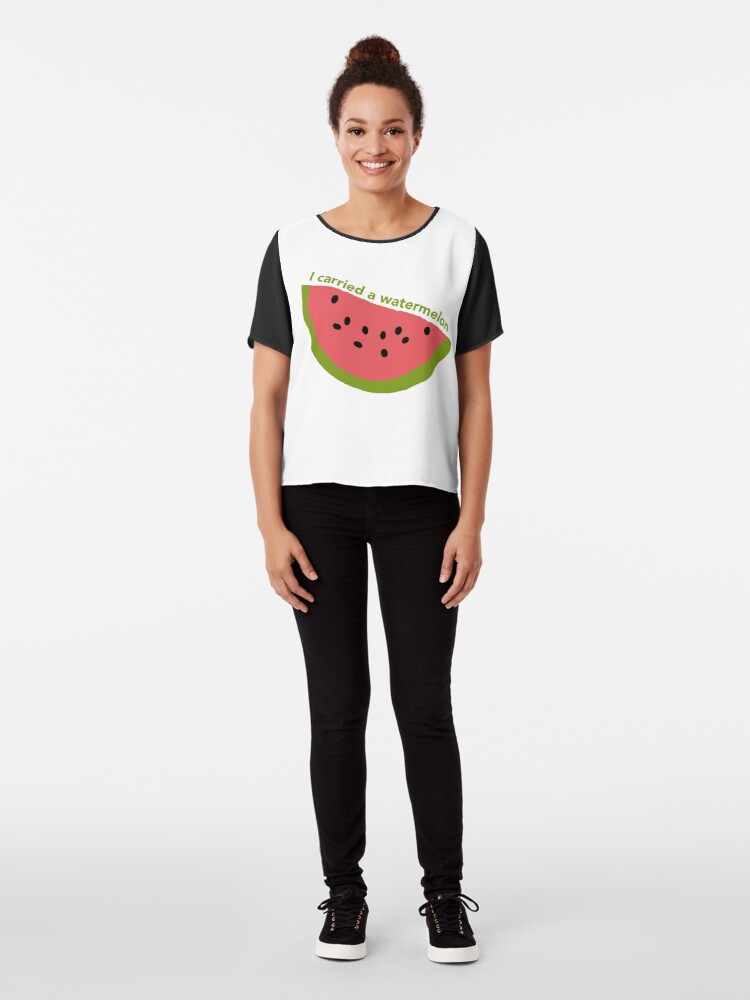 Alternate view of I carried a watermelon - dirty dancing Chiffon Top