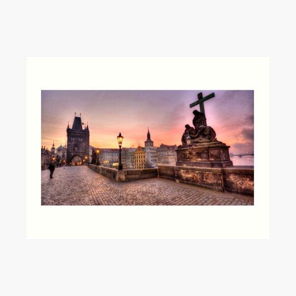 Sunrise @ Charles Bridge `Prague Art Print
