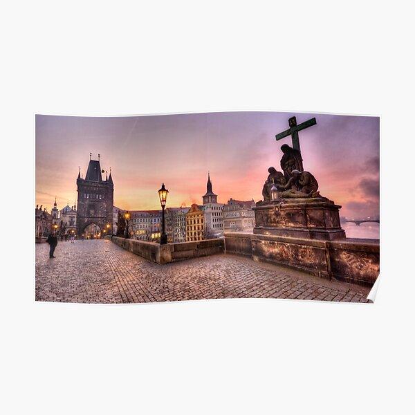 Sunrise @ Charles Bridge `Prague Poster