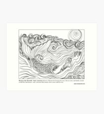 Menana of the Waterfall – Native American (Ottowa) #Mermaid Art Print