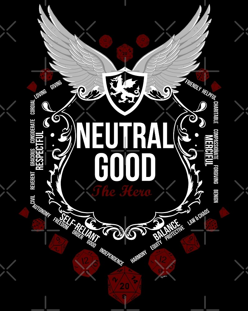 Neutral Good - White: Alignment Series by Milmino