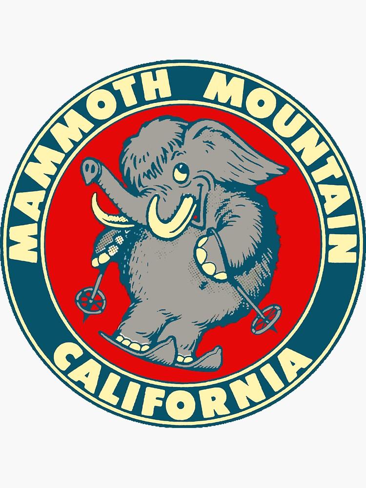 Esquema de viaje vintage de Mammoth Mountain California Skiing de hilda74