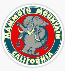 Pegatina Esquema de viaje vintage de Mammoth Mountain California Skiing