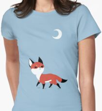 Moon Fox Women's Fitted T-Shirt