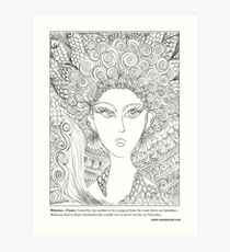 Melusina – French #Mermaid Art Print
