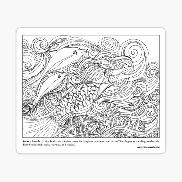 Sedna - Canadian #Mermaid Sticker