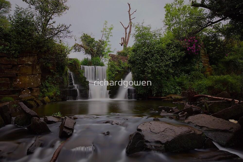 Penllergaer Woods Waterfall by richardgowen
