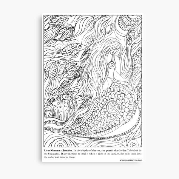 River Mumma – Jamaican #Mermaid Metal Print